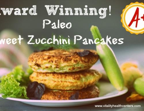 Paleo Sweet Zucchini Pancakes