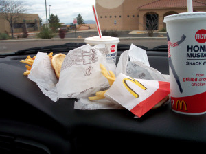 fast food on dash
